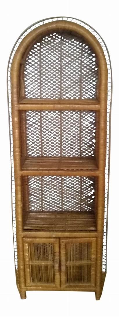 Wicker Etagere Rattan 1970 Chairish Bottom Bookcase