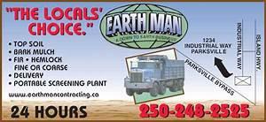Earthman Contracting - Fir & Hemlock Bark Mulch