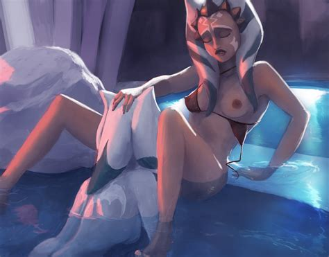 Rule 34 2016 Ahsoka Tano Alien Alien Girl Bath Bathing