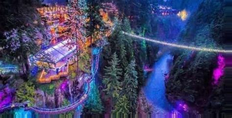See thousands of colourful lights illuminate the Capilano ...