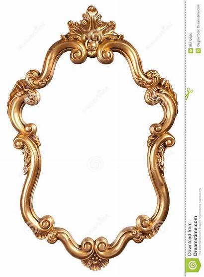 Clip Mirror Frame Gold Antique Clipart Background