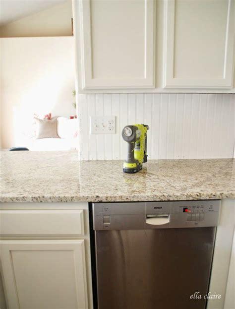 Beadboard And Tile by 30 Beadboard Kitchen Backsplash Tutorial Water Damage