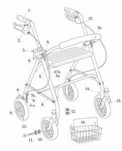 Replacement Parts For Drive 10257 Series Rollator  U2013 Advanced Healthmart