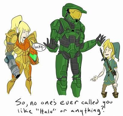 Link Samus Master Meme Chief Crossover Halo