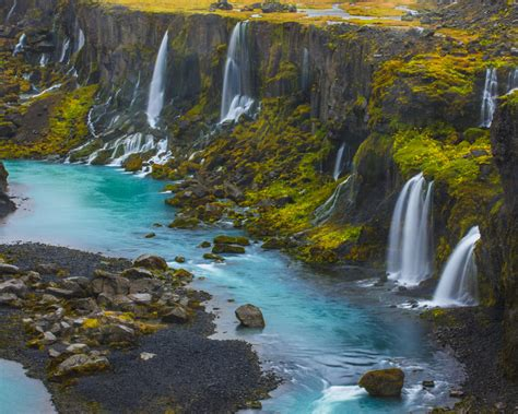 Sigalda Iceland Lekafossar Falls Android Wallpapers For