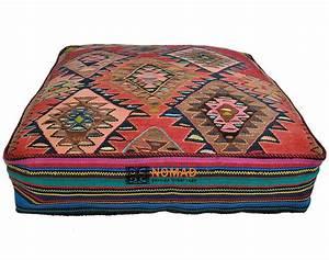 Säulentisch 80 X 80 : kelim bodenkissen pouf 80 x 80 x 20 cm online kaufen nomad art ~ Bigdaddyawards.com Haus und Dekorationen