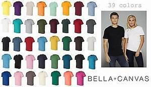 Bella Canvas Color Chart 3001 Bella Canvas Unisex Jersey Short Sleeve T Shirt Xs Xl