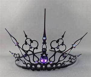 Purple Gothique - Black Filigree Gothic Tiara Evil Queen ...