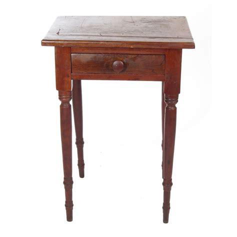 vintage end tables antique 19th c primitive wooden walnut one drawer stand