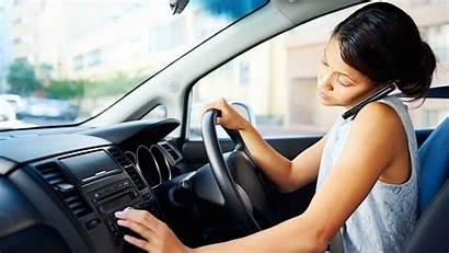Driving Phones Drivers Wheel Behind Phone While