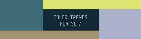 color trends of 2017 small business branding design