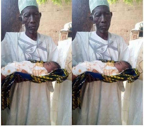 Amazing!! Nigerian Man Welcomes His First Child At 87