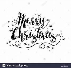 Merry Xmas Schriftzug : frohe weihnachten schriftzug ornament design mit sternen und funkelt xmas kalligraphie text ~ Buech-reservation.com Haus und Dekorationen