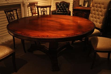 72 inch round dining table 72 inch round mahogany pedestal table empire or regency