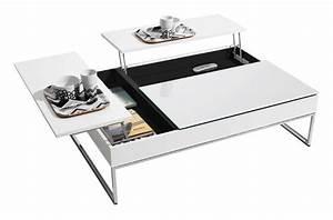 Boconcept funktionellt soffbord med forvaring vitlack for Good boconcept coffee table