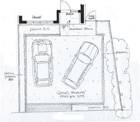 driveway layout design aggregate driveway lisa cox garden designs blog