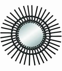 Miroir En Rotin : miroir rond en rotin noir ~ Nature-et-papiers.com Idées de Décoration