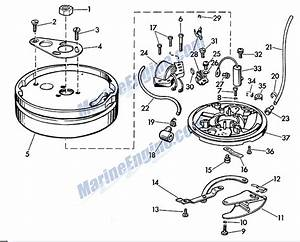 Evinrude Magneto Parts For 1957 7 5hp 7522 Outboard Motor