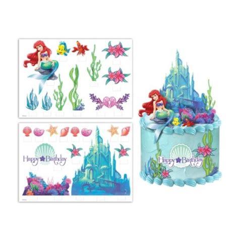 amazing  mermaid ariel cake scene kids themed