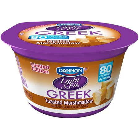 dannon yogurt light and fit dannon light fit toasted marshmallow nonfat yogurt 5 3
