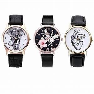 Vintage Uhren Damen : jsdde uhren set vintage damen armbanduhr elefant organ herz blumen damenuhr basel stil analog ~ Watch28wear.com Haus und Dekorationen