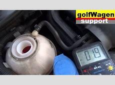 VW Golf 5 problem with coolant up ? coolant liquid level