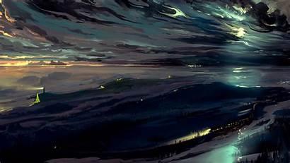 Sky Dark Night Background Widescreen