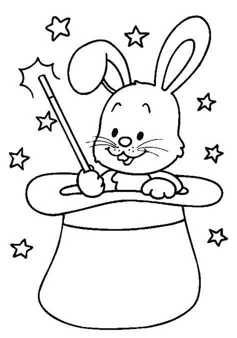 cours de cuisine gratuit en ligne coloriage lapin de magicien à imprimer dans un chapeau sur