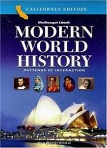 Modern World History Patterns of Interaction California ...