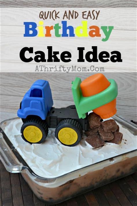 truck birthday theme party quick  easy birthday cake