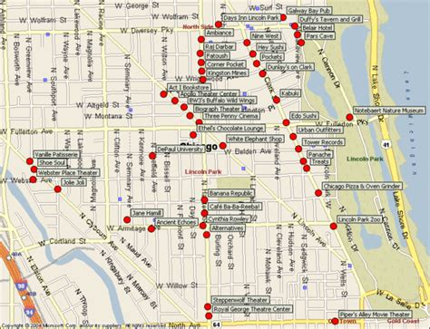 map of chicago tourist atractions images frompo 1