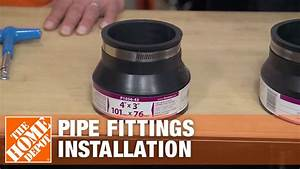 Installation Of Fernco Plumbing Pipe Fittings