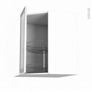 Meuble Haut Cuisine Vitré : meuble de cuisine angle haut vitr fa ade alu tourniquet 1 porte n 19 l40 cm l65 x h70 x p37 cm ~ Teatrodelosmanantiales.com Idées de Décoration