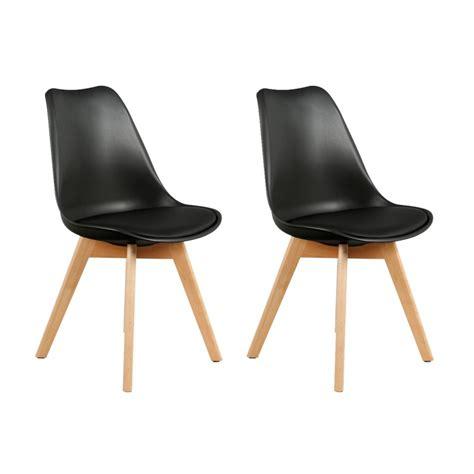 chaises noires pas cher chaise design noir pas cher idées de décoration