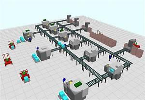 Simulation De Flux Arena   Palettisation 3d