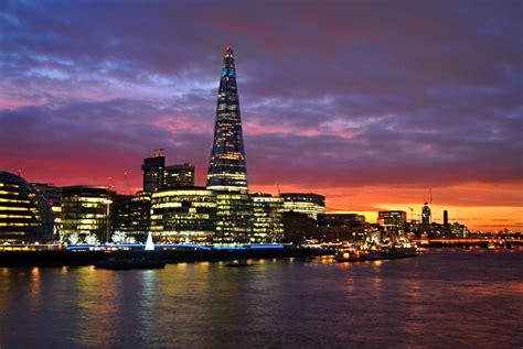 london sunset  shard    great sunset tonight