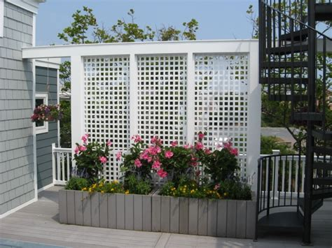 lattice privacy screen use a privacy fence for a more private deck or patio
