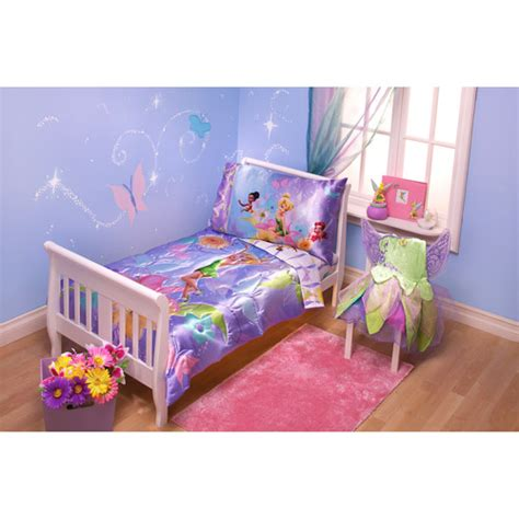 discontinued disney tinkerbell pixieland 4 toddler bedding set toddler walmart