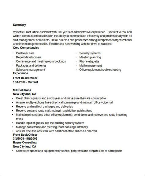 administration resume exles 28 free word pdf
