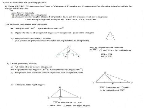 Geometric Proofs Worksheet Homeschooldressagecom