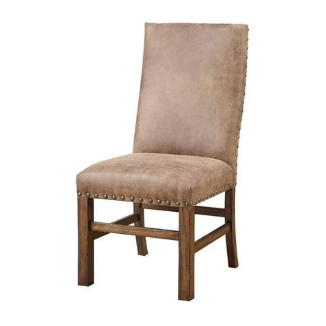 parsons dining chairs with nailheads emerald upholstered parson nailhead dining chair set of 2