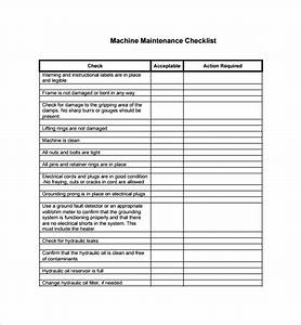 machine maintenance checklist template 28 images best With machine maintenance checklist template