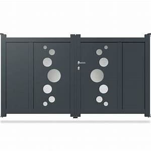 Portail Aluminium Pas Cher : portail aluminium battant design ds02 portail aluminium ~ Melissatoandfro.com Idées de Décoration