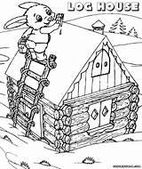 Log Coloring Pages Cabin Drawing Print Colorings Building Getdrawings Coloringway sketch template