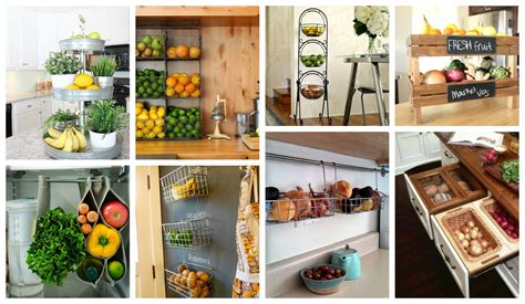 kitchen fruit storage amazing fruit and vegetables storage ideas that you will 1745