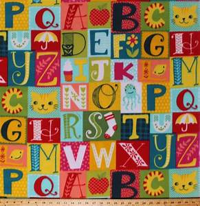 Fleece alpha blocks alphabet abc39s pictures learning for Printing letters on fabric