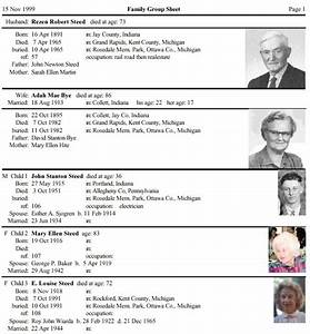 Printable Family Relationship Chart Brothers Keeper Genealogy Program Sample Reports