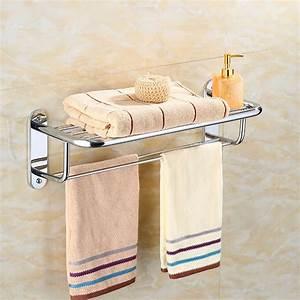 Generic, Wall, Mounted, Towel, Rack, Bathroom, Hotel, Rail, Holder, Storage, Shelf, Stainless, Steel