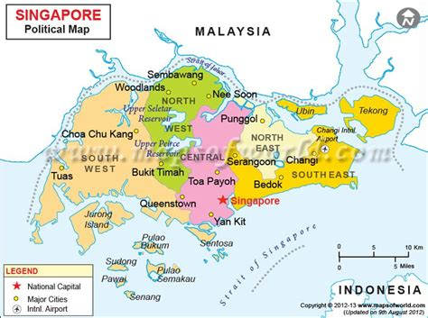 singapore map maps   world   singapour