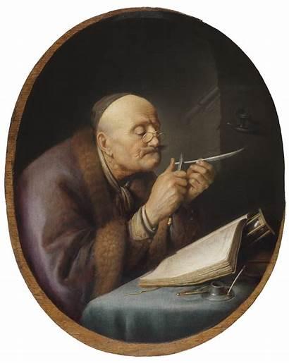 Quill Sharpening Scholar His Dou Gerrit Pen